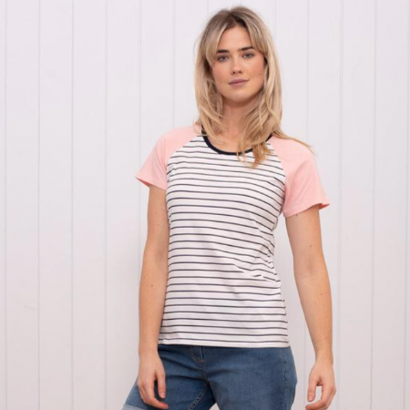 Stripe Raglan T-Shirt.